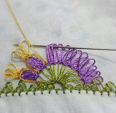İğne oyası modeli Crochet Edging Patterns, Baby Knitting Patterns, Crochet Ideas, Filet Crochet, Needle Lace, Lace Making, Embroidered Flowers, Tatting, Needlework