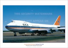 $19.95 AUD - South African Airways Boeing 747 A3 Poster Print Picture Photo Image X #ebay #Collectibles