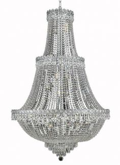 Agathe - Large Hanging Fixture (17 Light Modern Grand Crystal Chandelier) - 1615G30. This Agathe - Large Hanging Fixture (17 Light Modern Grand Crystal Chandelier), is a worthy compliment to any home, office or public space.  This exquisite piece, which stands out, above other crystal chandeliers, comes in a variety of finishes, crystal trims (including Heirloom Grandcut, Heirloom Handcut, Swarovski Elements & Swarovski Spectra) and crystal colors.  Finish, crystal trim and crystal color are…