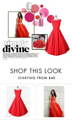 """""""Simple Dress 10"""" by obsessedwithnicestuff ❤ liked on Polyvore featuring Clinique and simpledress"""