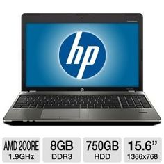 "Crazy HP Notebook with AMD A4 1.9Ghz, 8GB DDR3, 750GB, 15.6"", Win7 Pro only $499.99 USD"