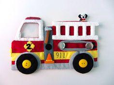 Caminhão bombeiro feltro