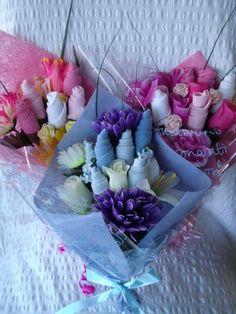 Baby gear bouquets..cute