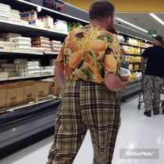 You think this Walmart shopper likes his Big Mac's?