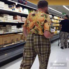 You think this Walmart shopper likes his Big Mac's?