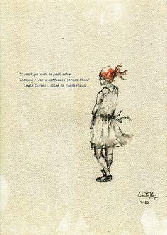 Alice in Wonderland- Fairy Tale Illustration Art Print