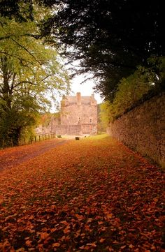 Neidpath Castle, Scotland - a rare view of this castle I haven't yet seen on Pinterest.