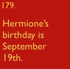 Hermione's birthday