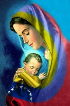 Mother Mary Images, Images Of Mary, Mother Painting, Colombian Art, Badass Skulls, Christian Paintings, Mama Mary, Spanish Art, Sainte Marie