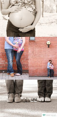 Urban maternity spring photo-shoot