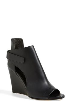 Vince 'Katia' Leather Wedge Bootie (Women) available at #Nordstrom