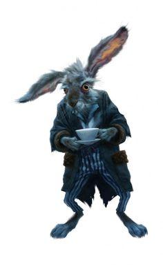 Il Leprotto Marzolino di Alice in Wonderland di Tim Burton