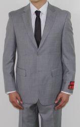 Men's Two Button WOOL Light Grey Suit