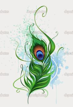 Illustration of Arts painted a colorful peacock feather on a white background stained watercolor paint vector art, clipart and stock vectors. Peacock Feather Tattoo, Peacock Wall Art, Feather Drawing, Feather Vector, Feather Tattoo Design, Design Tattoo, Feather Art, Feather Tattoos, Nature Tattoos