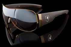 "Luxury Driving Aviator Tire Tread Sunglasses ""Vulcan"""