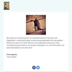 We invite you to become part of an international team of cat lovers and Egptophiles in restoring the great, ancient temple dedicated to the cat goddes. Bastet Tattoo, Egyptian Hairstyles, Egyptian Queen Nefertiti, International Teams, Ancient Architecture, Luxor, Cat Lovers, Restoration, How To Become