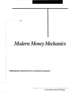 Modern Money Mechanics Read It Then Plant Your Feet This Is What We Did