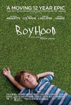 """BOYHOOD von Richard Linklater. Über einen Zeitraum von 12 Jahren gedrehter Film, der erzählt, wie aus einem Sechsjährigen ein junger Mann wird. Von vielen zu Recht als Meisterwerk bezeichnet. Ein wirklich wundervoller Film! Und 100 % """"fresh tomatoes""""! http://www.rottentomatoes.com/m/boyhood/"""