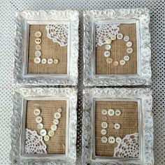 DIY Burlap, vintage buttons & LOVE! Perfect! www.facebook.com/thesilvernest484