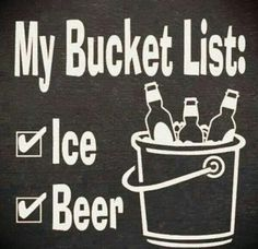 Painted black with white lettering Reads My Bucket List Ice Beer Measures about Hangs on wall Please note! You will not receive this exact sign, it will be the same size and colors, but the weathering and wood grain can vary. Sarcastic Pictures, Funny Pictures, Funny Images, Satire, Rolling Stones, Slot, Ice Beer, Beer Quotes, Funny Quotes