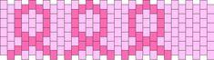 small breast cancer ribbons bead pattern Kandi Patterns, Bead Loom Patterns, Peyote Patterns, Beading Patterns, Beaded Earrings Native, Beaded Earrings Patterns, Jewelry Patterns, Breast Cancer Jewelry, Awareness Ribbons