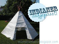 Tipi Zelt für Indianer {Tutorial}