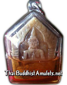Khun Phaen Ban Neng with 3 Silver Takrut and 1 Coffin Nail Soaking in Nam Man Prai - Ajahn Waroot   $389.00