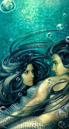 mermaid couple. One of my most favorite mermaid pictures