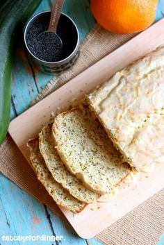 Eat Cake For Dinner: Orange Poppy Seed Zucchini Bread with Orange Glaze