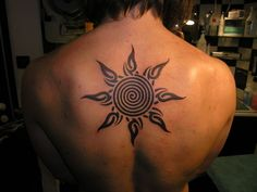 Celtic spiral tattoo incorporated into sun.  Signifies growth and expansion of consciousness.  I want.