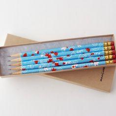 Handmade Gifts | Independent Design | Vintage Goods Deluxe Washi Pencil Set - Koi Fish - i love her!