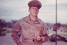 General Douglas MacArthur:  Considered one of the most conversational generals in history.  After serving with distinction in both World Wars, MacArthur was placed in command of U.S. and U.N. forces in the Korean War. On April 11, 1951, less than a year after the conflict began, he was relieved of command by President Truman after he openly disagreed with Truman's policy for a limited war. (Photo Credit: Getty).