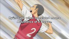 Tanaka definitely has dragon qualities. especially the stripping xD Daisuga, Kuroken, Bokuaka, Tanaka Haikyuu, Haikyuu Anime, Haikyuu Volleyball, Volleyball Anime, Tanaka Ryuunosuke, Haikyuu Ships
