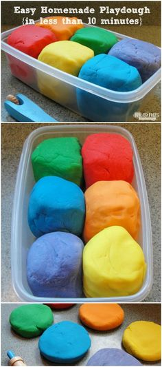Easy Homemade Playdough {in less than 10 minutes!} Activities for Kids