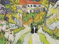 Vincent van Gogh - Village Street and Steps in Auvers, 1890
