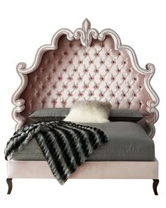 Maria Tufted King Bed, Blush - Haute House
