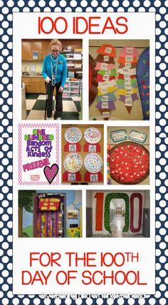 February Teaching Resources: Day of School! 100 ideas for the day! 100 Day Of School Project, 100 Days Of School, School Holidays, School Fun, School Projects, School Stuff, Primary School, First Grade Classroom, Kindergarten Classroom