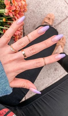 25 44 Best Coffin Nail & Gel Nail Designs for Summer 2019 Page 28 of 4 . 25 44 Best Coffin Nail & Gel Nail Designs for Summer 2019 Page 28 of 4 ., # For nails Matte White Nails, Nails Yellow, Light Purple Nails, Lilac Nails, Purple Ombre, Cute Acrylic Nails, Glitter Nails, Cute Nails, Acrylic Art