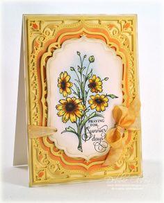 Black eyed susans card