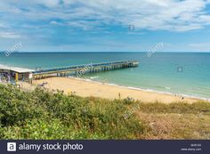Download this stock image: View of the Pier at Boscombe - GH51X3 from Alamy's library of millions of high resolution stock photos, illustrations and vectors.