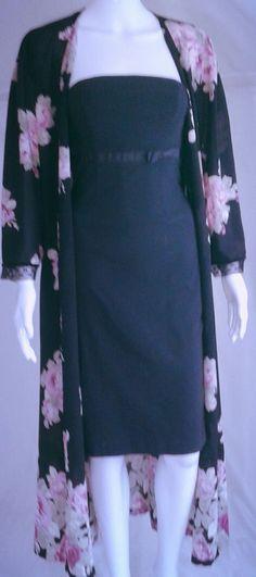 Oscar de la Renta Luxurious Long Satin Wrap Robe w/Ties Sz Medium | Clothing, Shoes & Accessories, Women's Clothing, Intimates & Sleep | eBay!