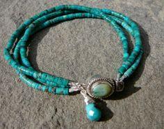 Turquoise Bracelet Beaded Bracelet Turquoise by ShopClementine