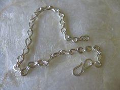 Roman Greek Etruscan Style Hammered Loop Chain by vixjewellery