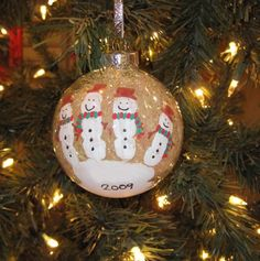 handprint ornament-snowmen