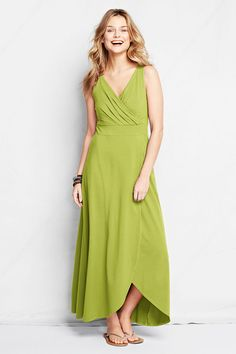 Women's Fit and Flare Maxi Dress from Lands' End