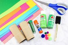 Materials Needed to Make Toilet Paper Roll Flowers