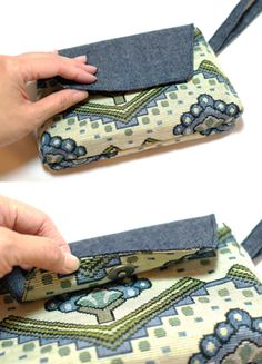 Clutch Purse - Magnet Clasp - DIY Craft Project Instructions