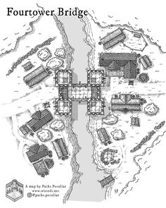 Old Maps, Antique Maps, Village Drawing, Village Map, Building Map, Map Pictures, Dungeon Maps, Fantasy Map, Fantasy Setting