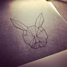 Geometric Rabbit Tattoo