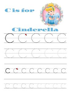 Printable letter practice.  With Disney Friends!!!